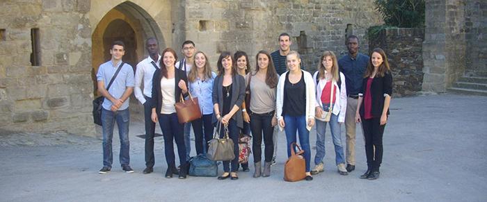 Les étudiants du M2 patrimoine UPVD