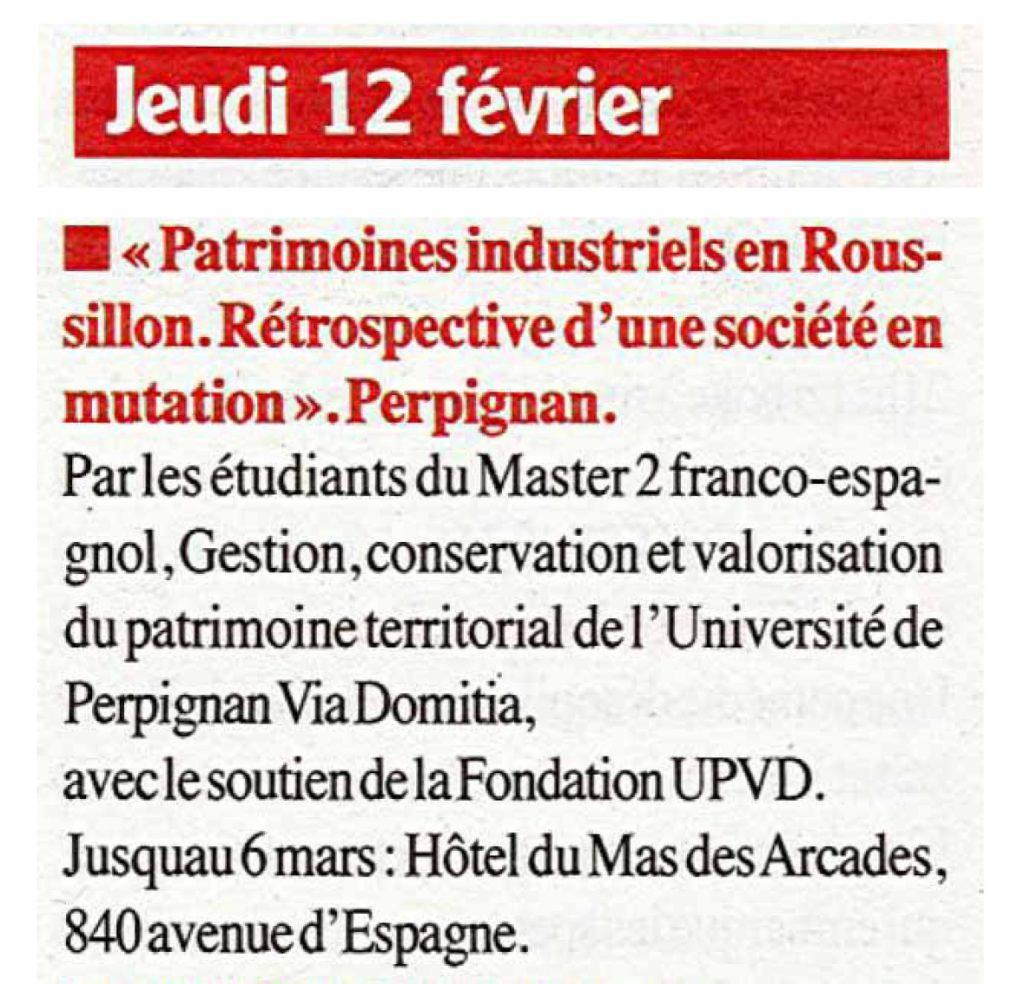 La Semaine du Roussillon_Patrimoine Industriel