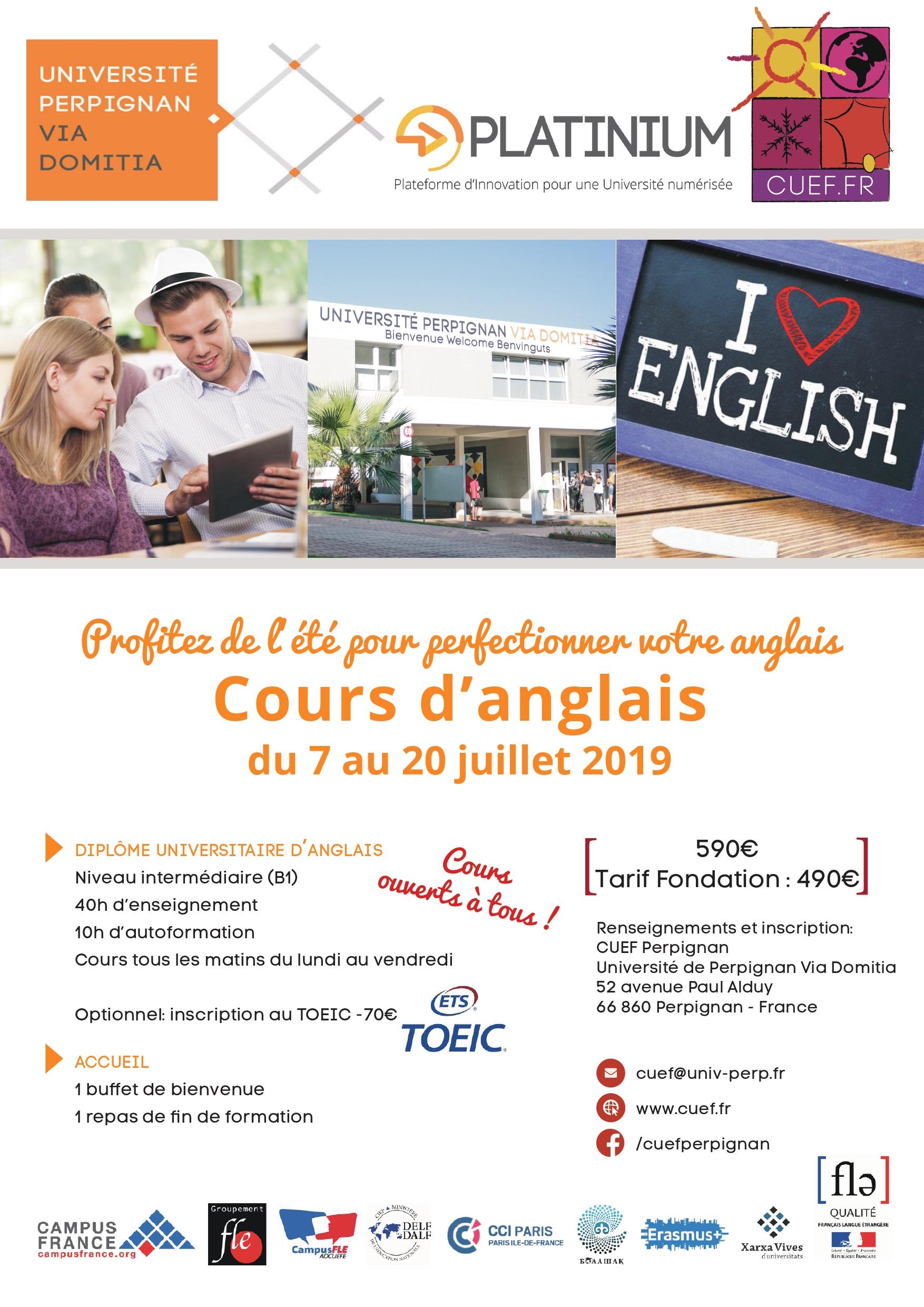 Cours d'anglais d'été