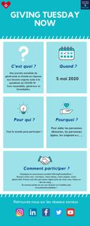 Infographie #GivingTuesdayNow expliquant le mouvement et comment y participer